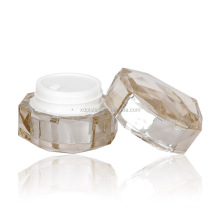 15g 30g 50g clear UV painting multiple surface plastic container cosmetic acrylic packaging cream jar