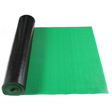 Green Color Fine Ribbed Pattern SBR Rubber Sheets Roll