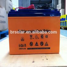 Alta batería de Efficency 12V 75AH para el panel solar