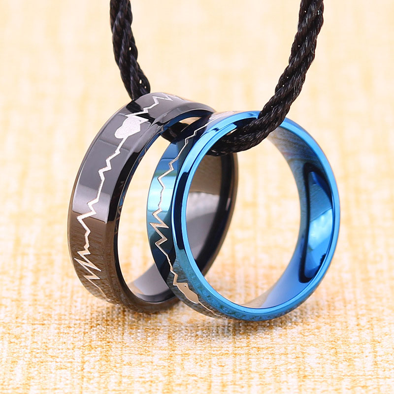 Heartbeat Ring For Couples