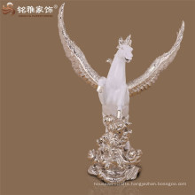 Big wholesale flying horse hero with wing resin figure for showroom decor