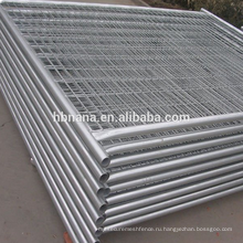 Высокое качество фабрики используют временные ограждения / временный забор стоит бетон