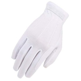 Stretchable nylon knit materials full finger glove