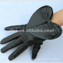 Luvas de couro pretas originais do projeto da pele de carneiro para a desvantagem