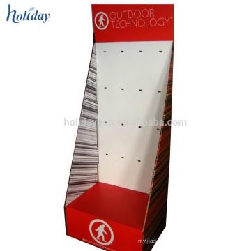 Affichage de crochet de vêtements de carton, affichage accrochant de crochet de papier de vêtement