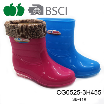 Hot Selling Fancy New Design Pvc Plastic Lady Rain Boot