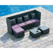 DE-(154) outdoor furniture sofa wicker/ rattan small l shaped sofa designs