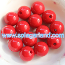 6-20MM acrylique Opaque rond lâche Spacer Beads