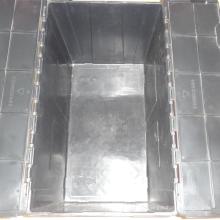 Tamanhos diferentes de recipientes de plástico de aninhamento
