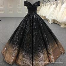 Brilhante vestido de baile vestido de casamento muçulmano 2018