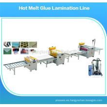 Máquina de rodillos laminados / máquina de recubrimiento de fusión en caliente / dispensador de cola de fusión en caliente