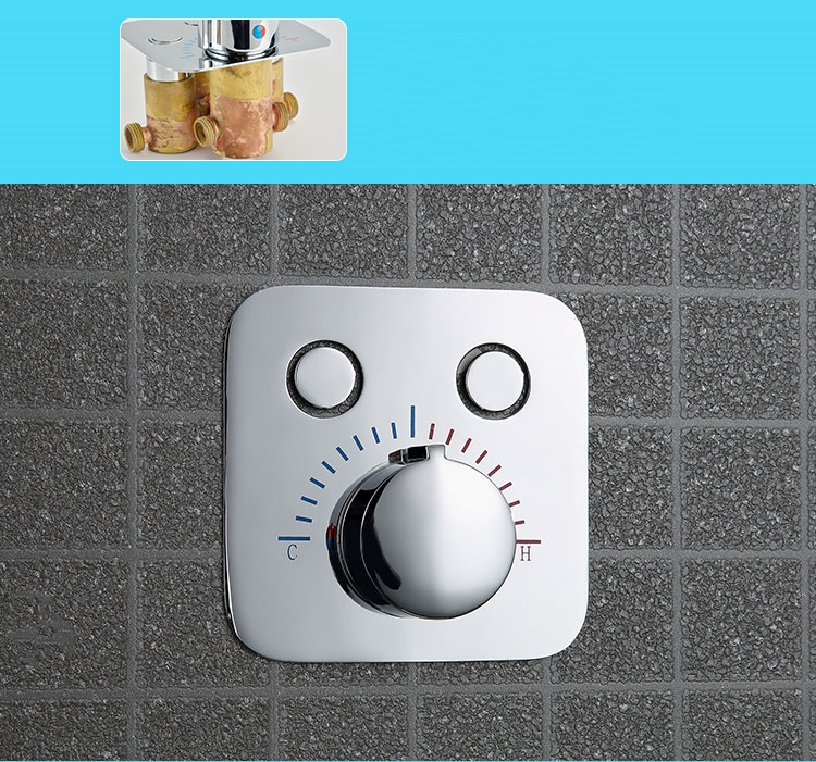 Big Square Shape Bathroom Shower Faucet