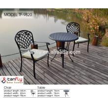 2015 nouveau design pas cher, meubles de repas en plein air aluminium coulé