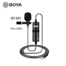 BOYA BY-M1 Mini Wired Lavalier Collar Tie Clip Mic Microphone for Iphone