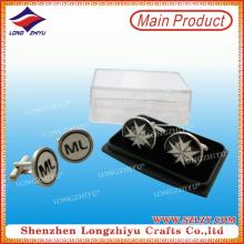 Customized Logo Round Cufflinks for Men