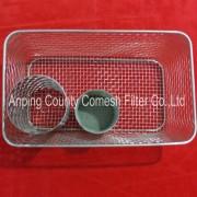 Stainless Steel Wire Mesh Storage Fruit Basket