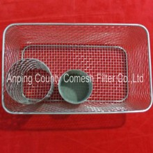 Stainless Steel Wire Mesh Storage Fruit Basket