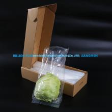 Прозрачный пластиковый пакет с фруктами