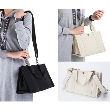 Durable Natural White Plain Cotton Canvas Tote Bags