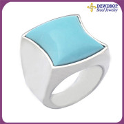 Stylish Gemstone Jewelry Turquoise Rings for Girls Jewellery Wholesale