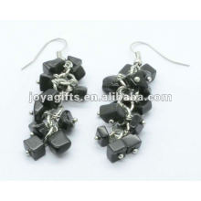 Grape Shaped Black Onyx Gemstone Earring