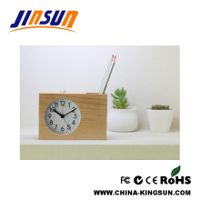 Fresh Wooden Desk Alarm Clock With Pen holder
