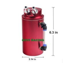 Круглая гонка Алюминиевое масло Catch Tank Can с мини-воздушным фильтром 0.5L