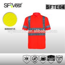 Shirt para homens reflexivo workwear segurança t-shirt para homem 100% poliéster reflexivo t-shirt