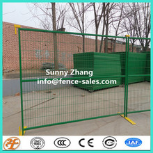 6'x10' square tube temporary fence with top clamp and feet