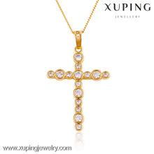 32434-Xuping Jóias Trendy Charm Christma Presentes banhado a ouro 18K Pingente Cruz