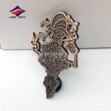 Doble embrague de caucho estampado distintivo pin de cobre