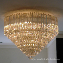 Modern Crystal Led Cheap Round Ceiling Flush Mounted Lighting Chandelier Lamps 51119