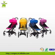 Hochwertiger guter Baby-Spaziergänger mit Tragebett mit beliebten vier großen Rädern