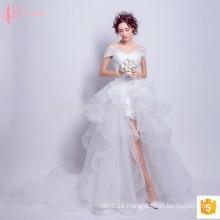 Plicated encaje off-shoulde sexy vestido de fiesta vestido de novia princesa