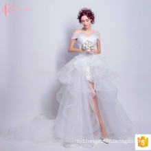 Plicated lace off-shoulde sexy ball gown princess wedding dress