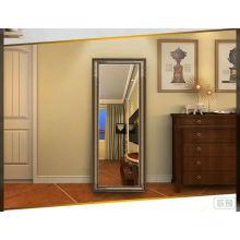 Miroir acrylique de salle de bains d'acrylique clair de couleur en bois qui respecte l'environnement de couleur en bois