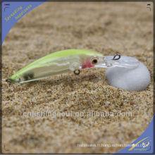 MNL046 8CM / 3G en plastique dur leurre Fish Black Minnow