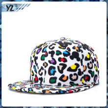 OEM high quality custom leopard-print snapback hats