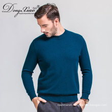 Hand Feel Oem Knitted 12GG Style Pullover Cashmere Sweater Mens In Low Price