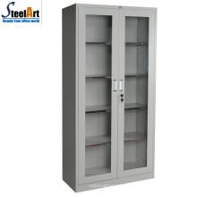 Hohe Qualität KD-Struktur Büro verwendet Glas zwei Tür Schrank