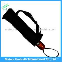 Promoción de la flor de impresión 3 paraguas plegable automático para los hombres