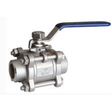Válvula de bola industrial del acero inoxidable del extremo soldado (válvula industrial de China)