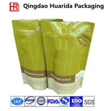 Nahrungsmittelgrad steht oben Ziplock Tee / Kaffee-Plastikverpackungs-Taschen