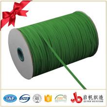 Fabricant de porcelaine de sangle de rouleau élastique tressé vert large de 8mm