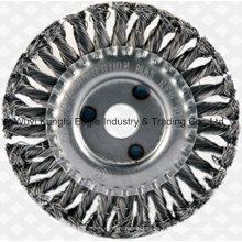 """4-1/2"""" Twist nudo alambre de acero rueda cepillo de acero inoxidable"""