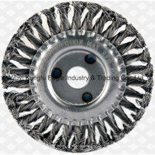 """En acier inoxydable 4-1/2"""" Twist noeud en acier brosse métallique"""