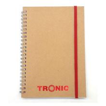 Togo Druck Kraft Abdeckung Spiral Notizbücher Papier Notebook Kraft