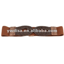 Brown Women's Elastic Cinch Belt