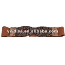 Ремень женский эластичный женский коричневый