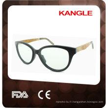 lunettes de soleil en bois charnière
